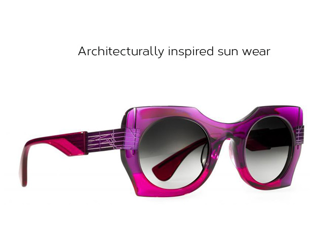Architecturally inspired sun glasses